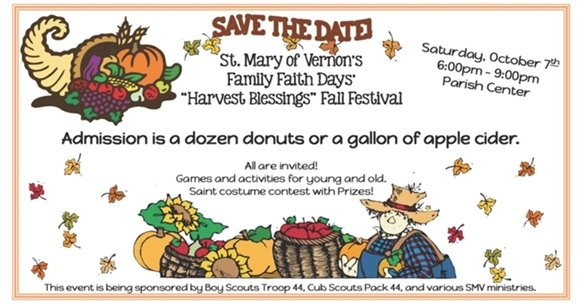 St Mary of Vernon Fall Festival
