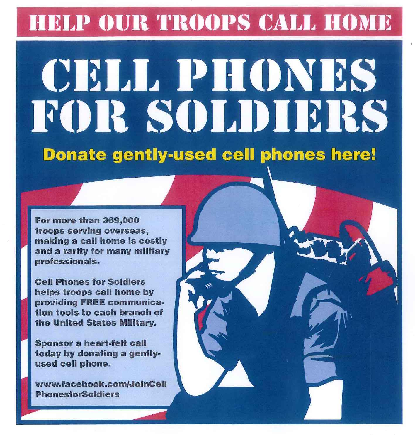 Cell Phones for Soldiers Poster