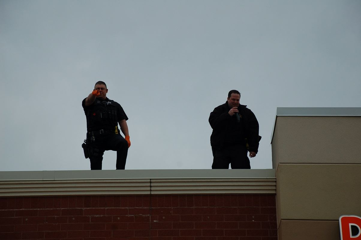 Cops on roof